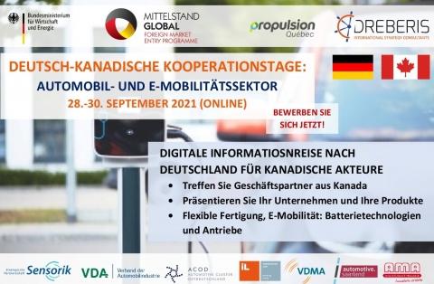 Deutsch-Kanadische Kooperationstage, 28.-30.09.2021